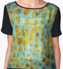 Spotted Cat Chiffon Top