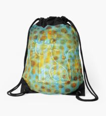 Spotted Cat Drawstring Bag