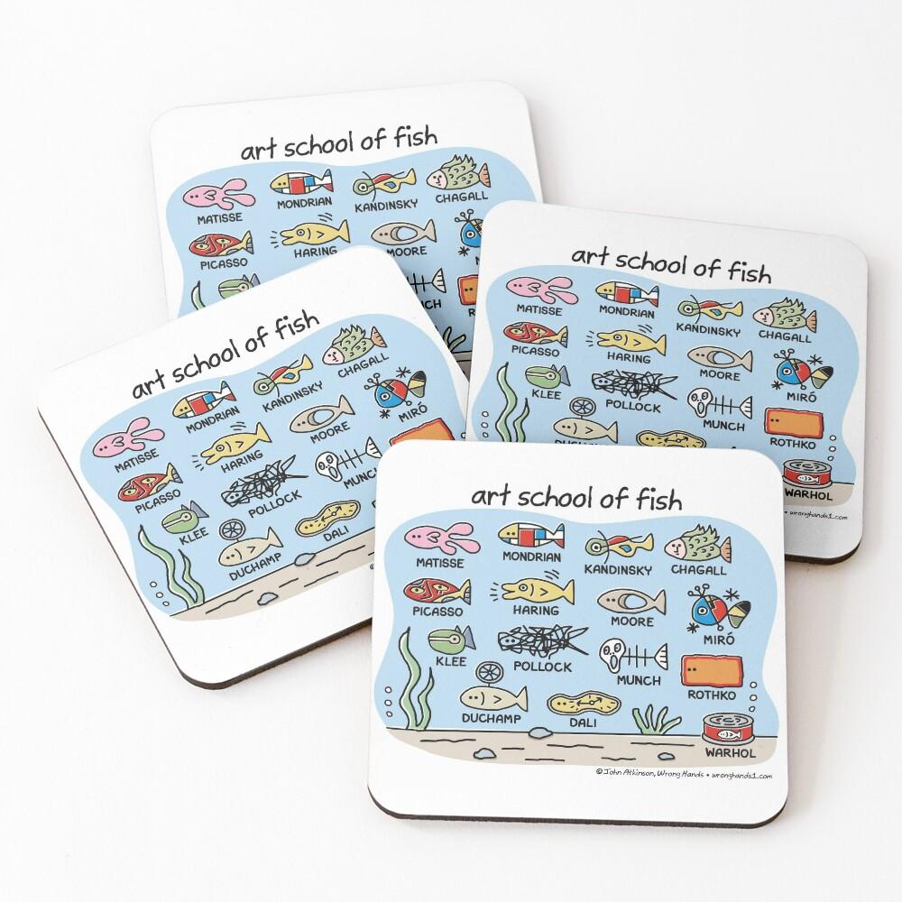art school of fish Coasters (Set of 4)