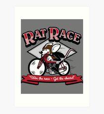 """Rat Race"" Vintage Cartoon Art Print"
