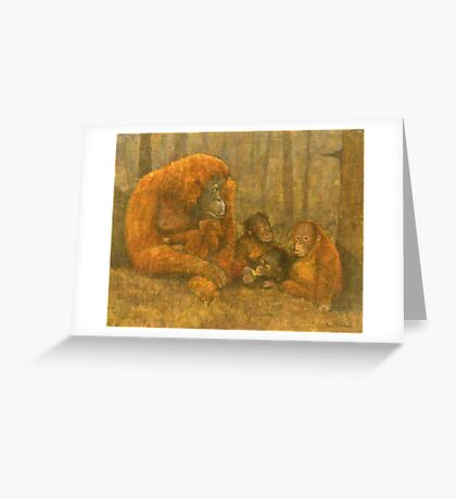 Sumatra Red Greeting Card