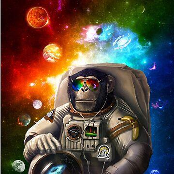 SPACE MONKEY  by johnnyssandart