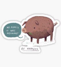 be hamble Sticker