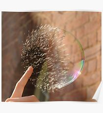 Popping Soap Bubble Poster