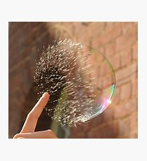 Popping Soap Bubble Photographic Print