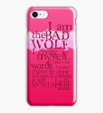 I am the BAD WOLF iPhone Case/Skin