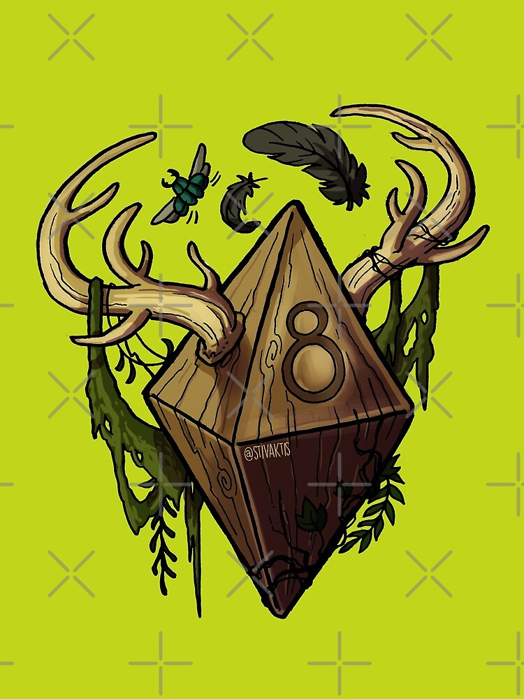 D&D Dice - Druid by optimisteve