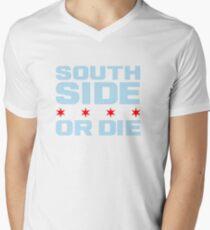 South Side Or Die - Chicago Flag Edition Men's V-Neck T-Shirt