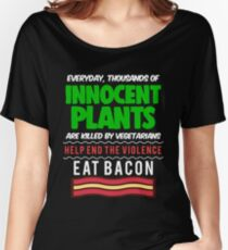 Funny Bacon Science Gift Periodic Table Apparel Women's Relaxed Fit T-Shirt