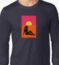 Pop Art Sexy Robot Girl Long Sleeve T-Shirt