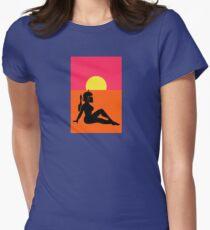 Pop Art Sexy Robot Girl Women's Fitted T-Shirt