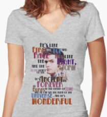 wonderful doctor Women's Fitted V-Neck T-Shirt