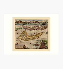Map Of Corfu 1790 Art Print