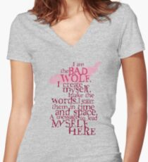 I am the BAD WOLF Women's Fitted V-Neck T-Shirt