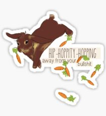 hip-hoppity-hopping (chocolate) Sticker