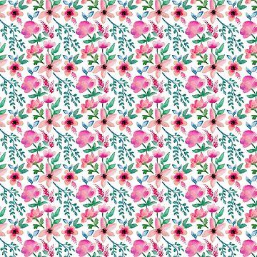 Floral Watercolor Pattern by meghanmarie