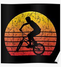 BMX Bike Biker Bicycle Retro Love Life Gift Poster