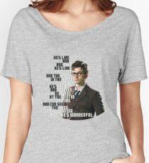 David Tennant - He's wonderful Women's Relaxed Fit T-Shirt