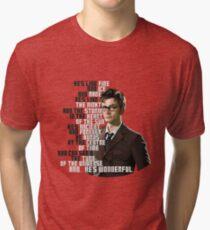 David Tennant - He's wonderful Tri-blend T-Shirt