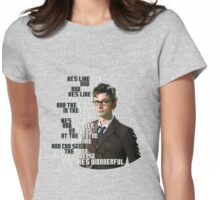 David Tennant - He's wonderful Womens Fitted T-Shirt