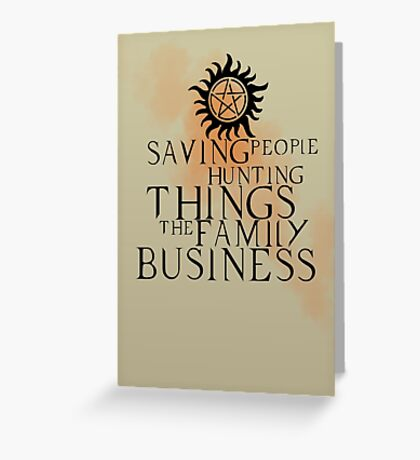 Family business Greeting Card