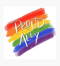 Proud LGBT Ally Photographic Print