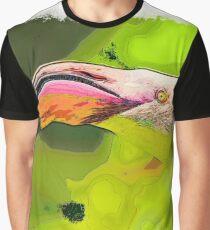 Flamingo Bird drawn Art Graphic T-Shirt