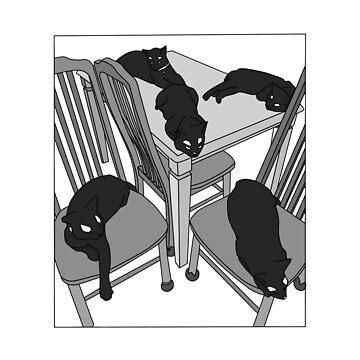 black cats by jijiru