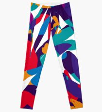 Abstraction pourpre Leggings