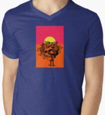 Grateful Skull and Roses Dead Skeleton Men's V-Neck T-Shirt