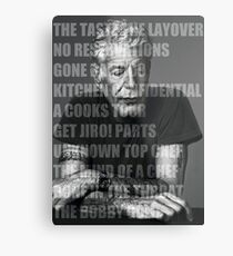 Works of Anthony Bourdain Metal Print