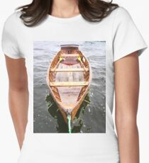 Row Boat Number 2 Hornsea Mere (or CIRCE) Women's Fitted T-Shirt