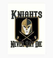 LV Golden Knights Never Die 2 Art Print