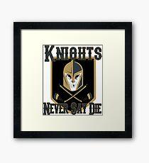 LV Golden Knights Never Die 2 Framed Print
