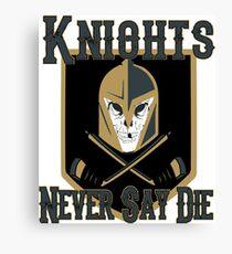 LV Golden Knights Never Die 2 Canvas Print