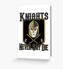 LV Golden Knights Never Die 2 Greeting Card