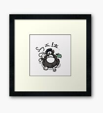 Sorry It's Late... Framed Print