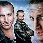 Christopher Eccleston as Dr Who by arfineart