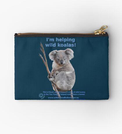 I'm helping wild koalas - Cloud Zipper Pouch
