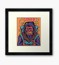 Gorilla-Spieler Gerahmtes Wandbild