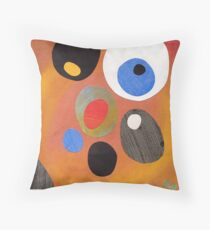 Retro abstract in rich warm colours Throw Pillow