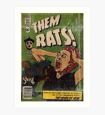 RATS - Ghost Comic Series Art Print