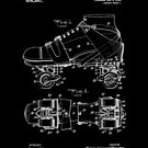 Roller Skate Patent White by Vesaints