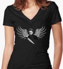 Some never die Women's Fitted V-Neck T-Shirt