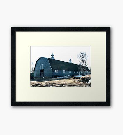 The Old Fashioned Grey Barn Framed Print