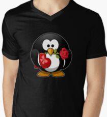 cute penguin Men's V-Neck T-Shirt