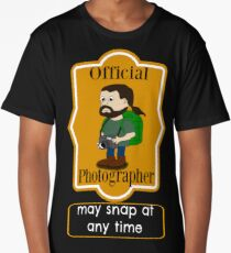 Fun Sarcastic Official Photographer Label Long T-Shirt