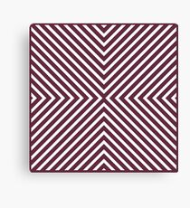 CARNATIONS DOTS AND STRIPES CO-ORDINATE Canvas Print