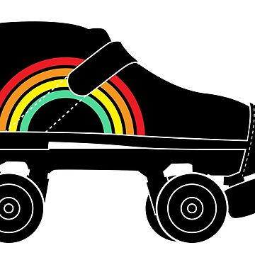 rainbow roller skate by chromatosis