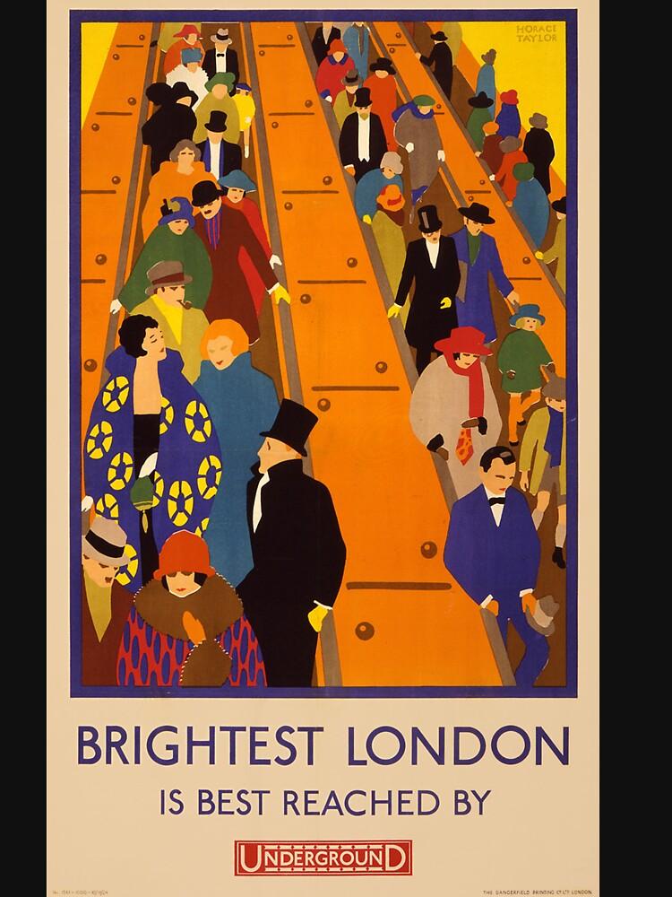 London Underground vintage poster by welniak